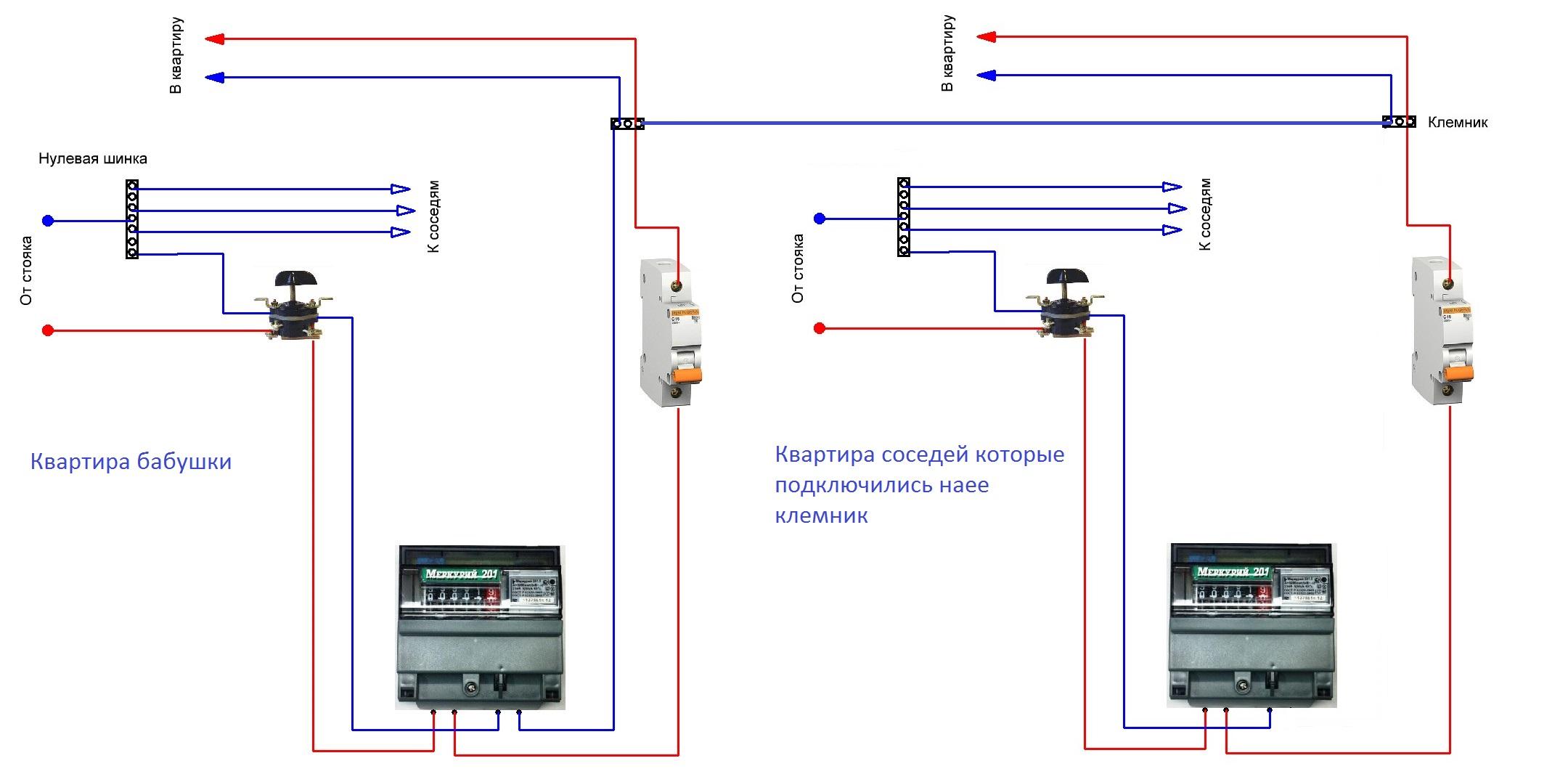 Счетчик бытовой электронный схема подключения